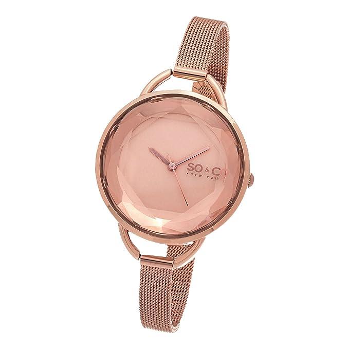 SO & CO New York SoHo 5104.4 - Reloj de pulsera Cuarzo Mujer correa deAcero inoxidable Oro Rosa: Amazon.es: Relojes