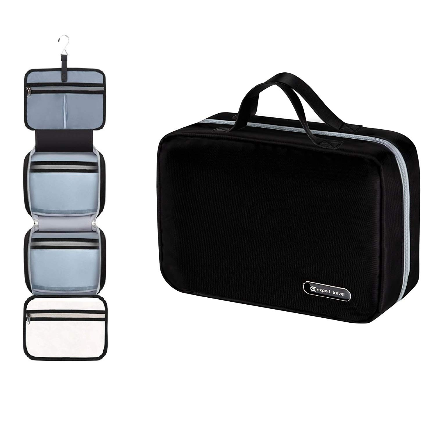 Hanging Travel Toiletry Bag For Men And Women Makeup Bag Cosmetic Bag Bathroom And Shower Organizer Kit Leak Proof 2 Sizes Large 34 X11 Xl Family Size 42 X13 Beauty Amazon Com
