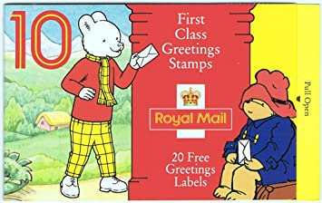 Greetings stamps booklet with rupert bear on cover amazon greetings stamps booklet with rupert bear on cover m4hsunfo