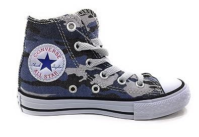 c6d88d0c4d553e Converse CTAS Chuck Taylor All Star HI Kids Blue Camo (2 M US Little Kid