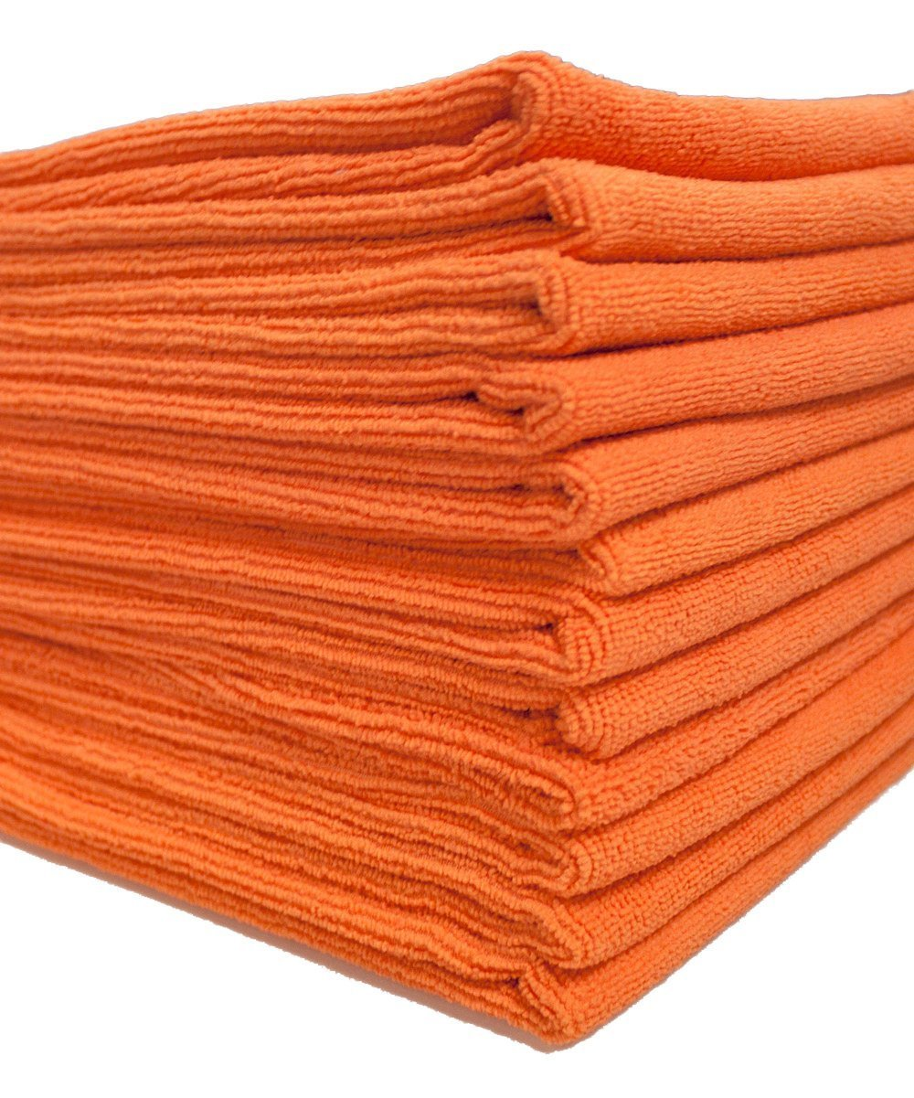 DRI Professional Extra-Thick Microfiber Cleaning Cloth - 16 in x 16 in - 72 Pack (Orange) - Ultra-Absorbent, Quick Drying, Chemical-Free Cleaning by DRI (Image #2)