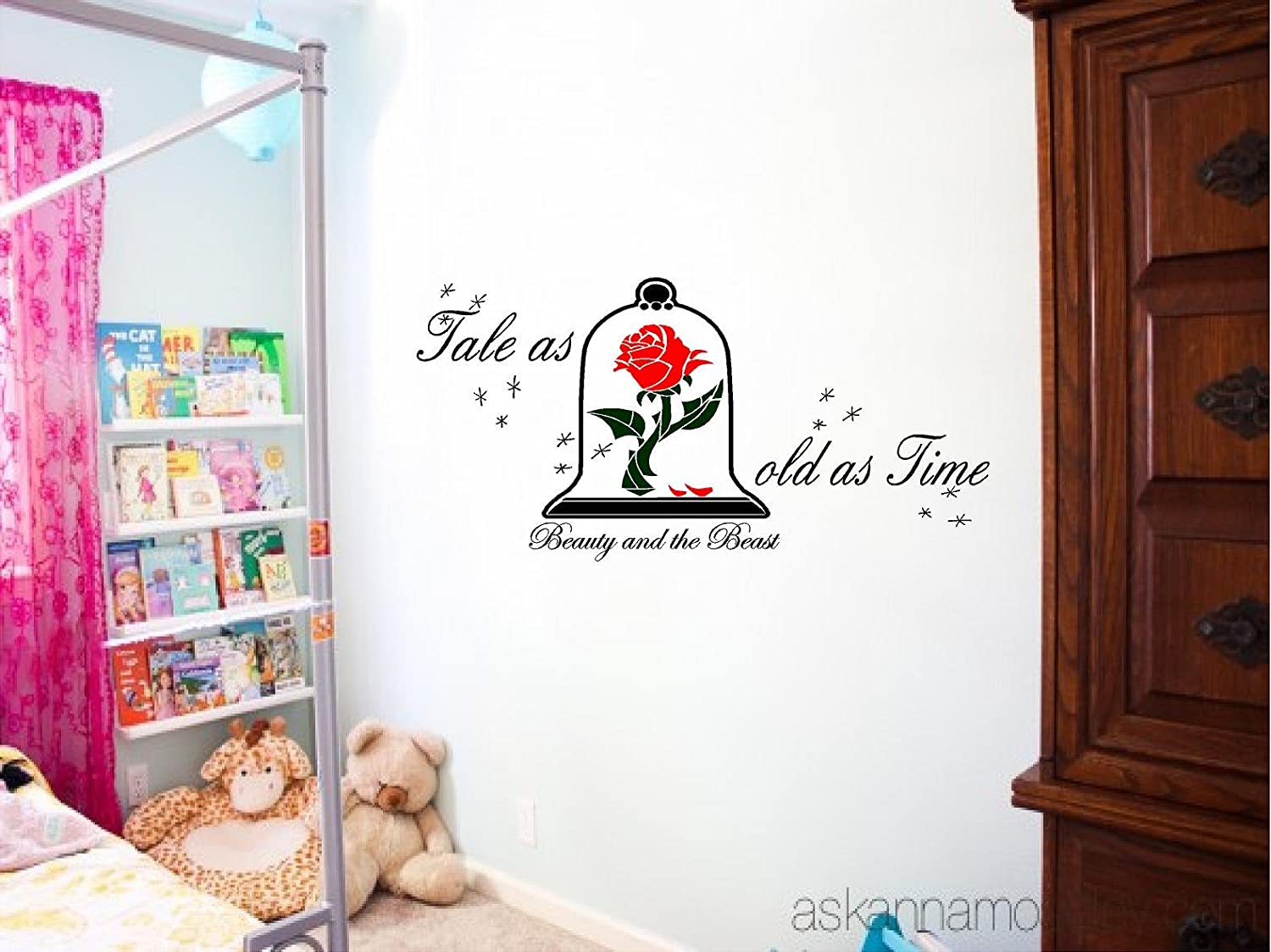 Amazon.com: Quote It   Tale As Old As Time Rose, Beauty, Beast Vinyl Wall  Decal, Wall Quotes (14 X 28): Home U0026 Kitchen