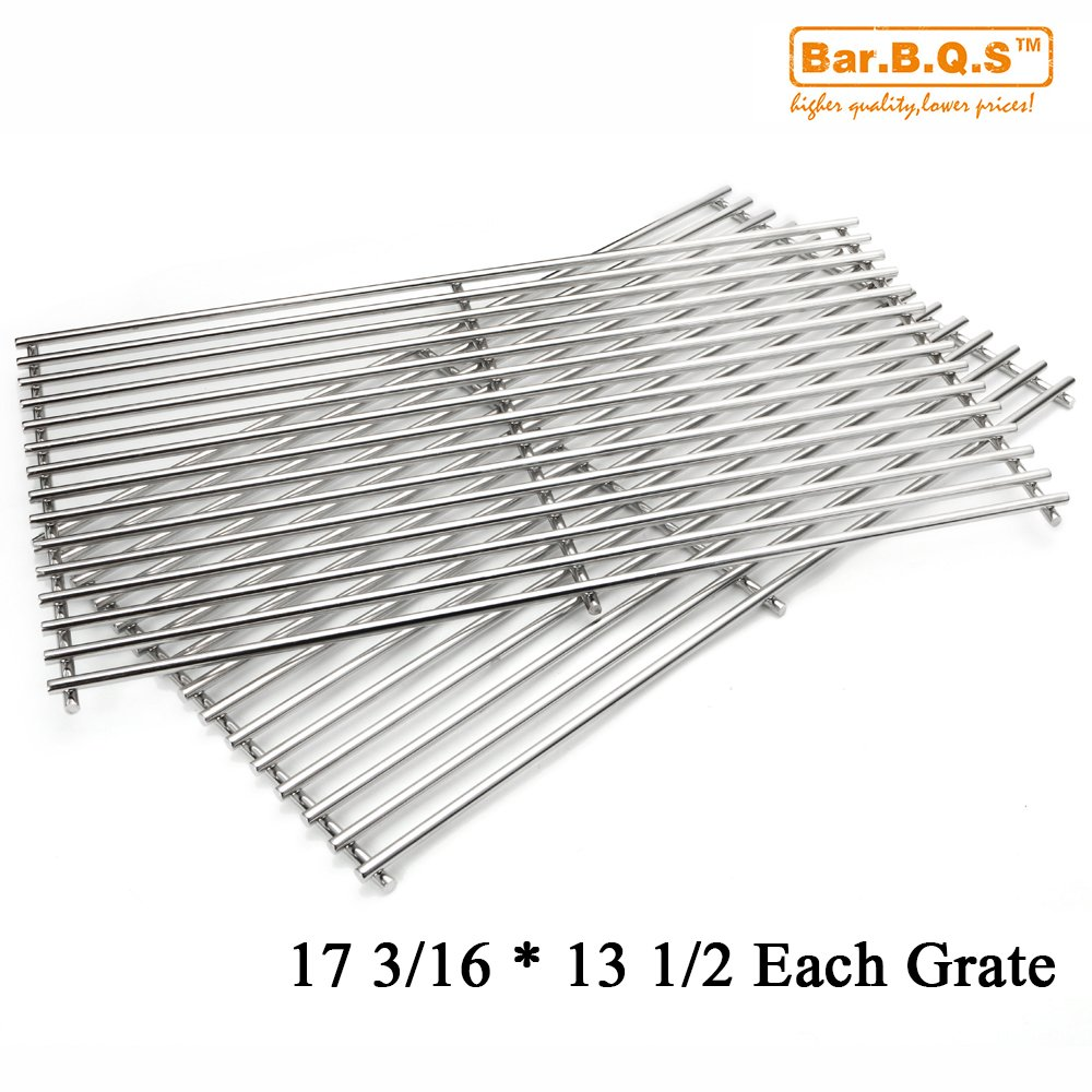 Bar.b.q.s Replacement Parts For Sunbeam,Nexgrill,Grill Master 720-0697 Gas Grill Cooking Grid Set of 2 Stainless Steel Cooking Grates by Bar.B.Q.S