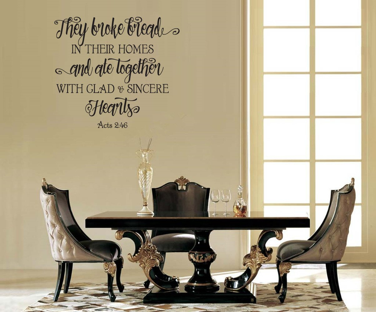 Amazon Home Quotes Wall Stickers They Broke Bread In Their