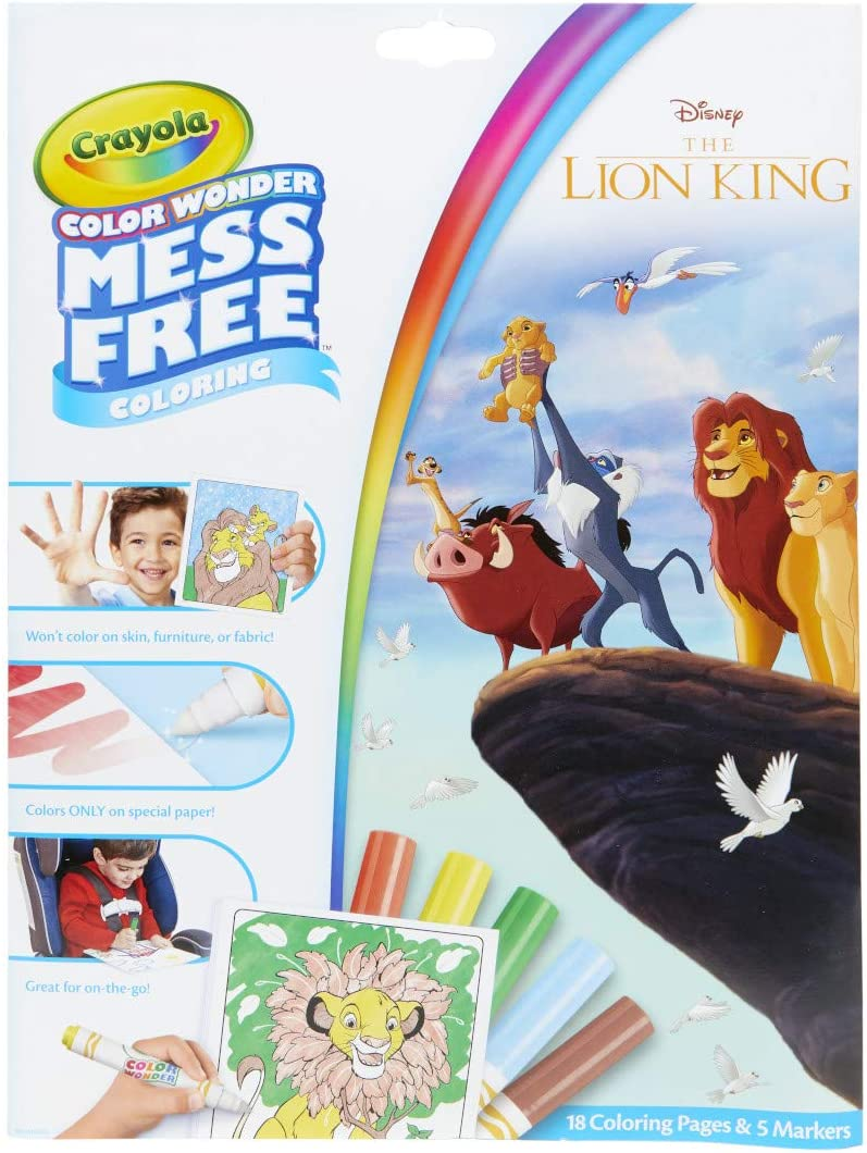 Amazon Com Crayola Lion King Pages Markers Color Wonder Pad And Markers Multicolor Toys Games