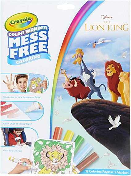 Amazon.com: Crayola Lion King Pages & Markers Color Wonder Pad And Markers,  Multicolor: Toys & Games