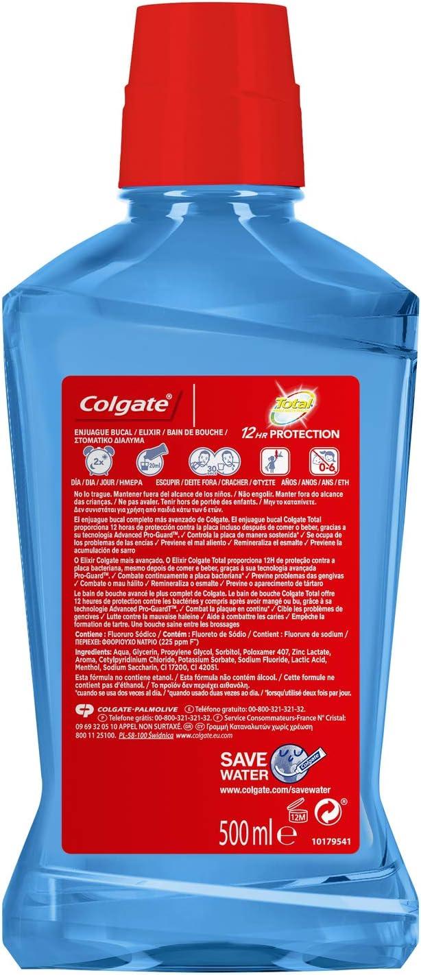 Enjuague bucal Colgate total pro guard 500ml: Amazon.es: Salud y ...