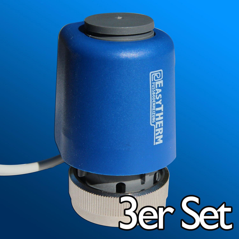 EasyTHERM thermischer Stellantrieb M30 x 1,5 f/ür Fu/ßbodenheizung 230 Volt 10er Pack