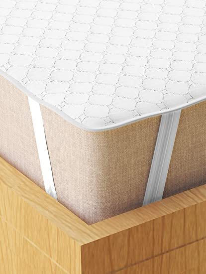 Story@Home Water Resistant & Dust Resistant Pinsonic Quilting 1 Cotton 78 X 60 Inch Mattress (s) Guard Protectors! - Queen, White