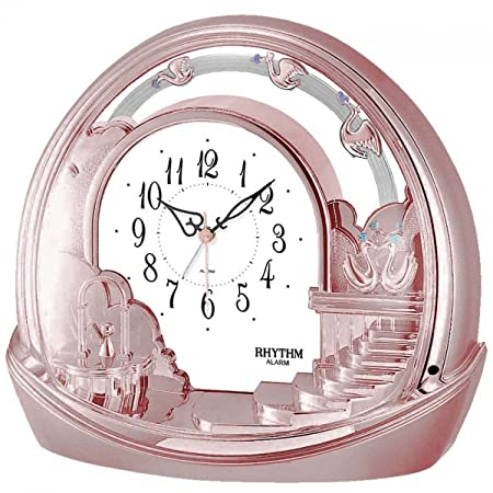 Rhythm 4se443wd13 Reloj de mesa en acabado dorado de New Rose ...