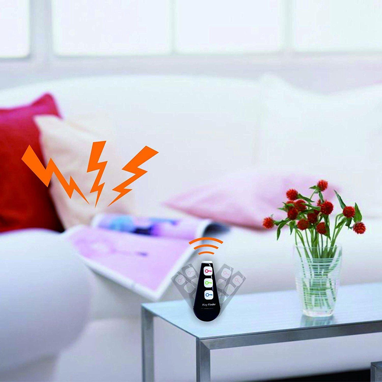 Regalos Electronicos para Adolescentes Gadgets Hombres Negro Mujeres Ninos REFURBISHHOUSE Localizador de Buscador de Llave RF con Linterna LED