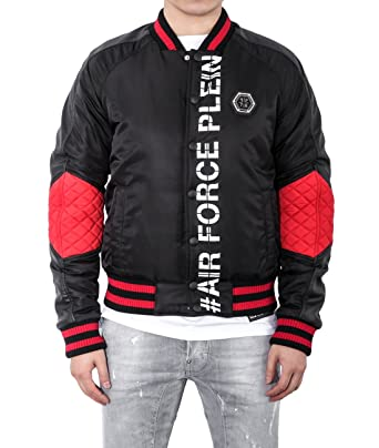8288466c471 Wiberlux Philipp Plein Fern Park Men's Air Force Theme Stadium Jacket -  Black -