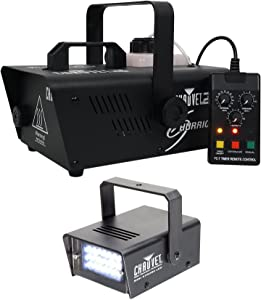 Chauvet DJ H1200 Hurricane 1200 Compact Fog Machine W/Remote Timer+Strobe Light