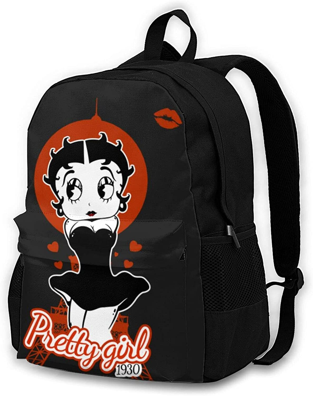 Backpack Pretty Girl - Betty Boop School Bags Student Bookbag Outdoor Hiking Backpacks Laptop Bags