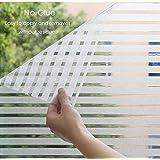 TOTAL HOME :New Privacy Home Static Cling Window Sun Shade Film No Glue Self Adhesive Decorative Sticker {SIZE: 60X122 CM} 2 PICS
