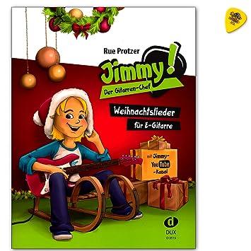 La Guitarra De Chef - 24 mejores canciones de Navidad especialmente para guitarra eléctrica con melodía y dos diferentes begleitungen - Ordenador libro con ...
