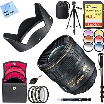 Nikon 24 mm F/1.4G ED AF-S Lente Gran Angular con Tarjeta de ...