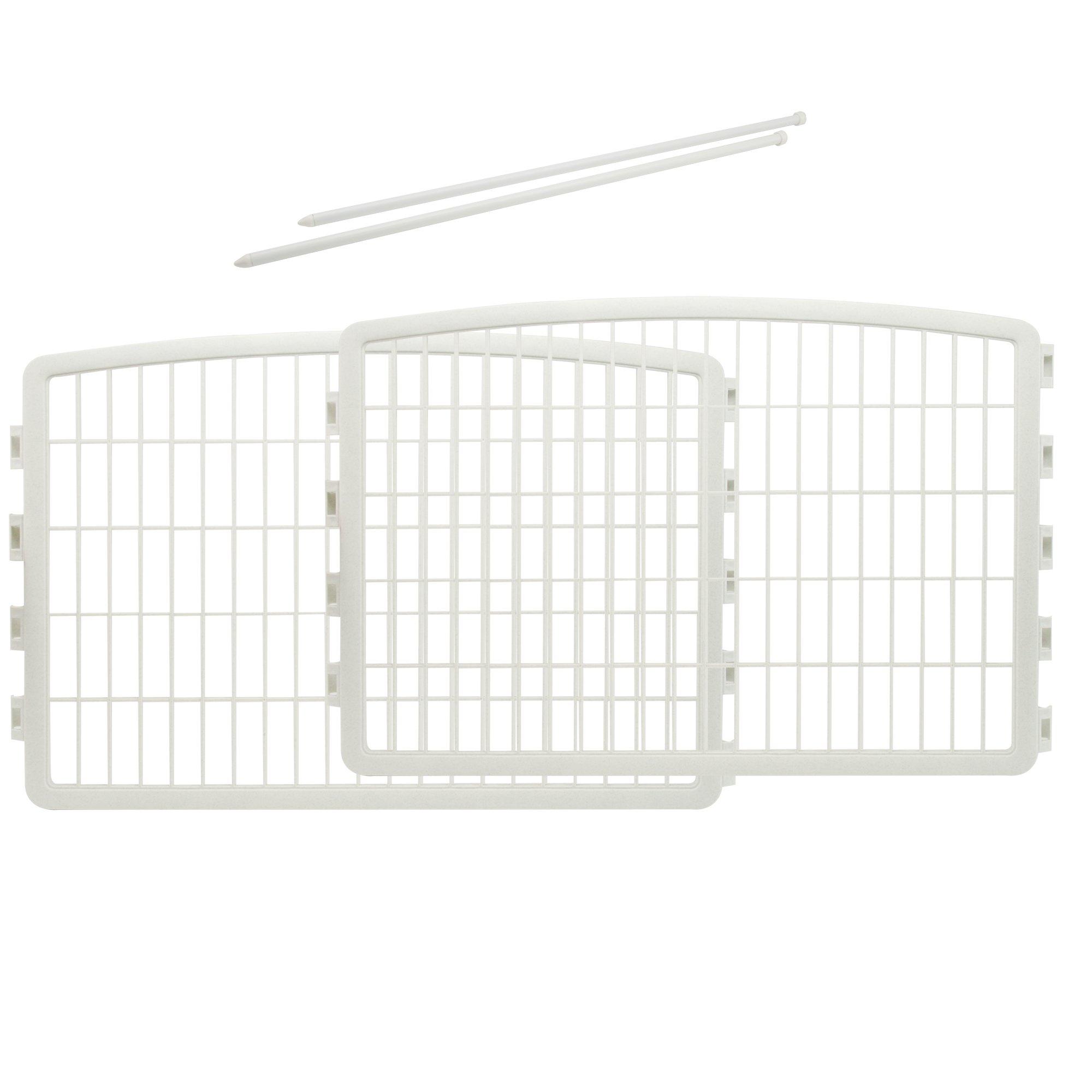 IRIS 24'' Pet Playpen 2 Panel Add-On White