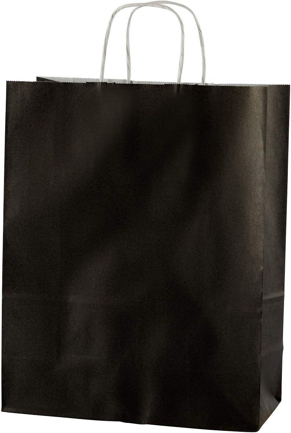 MEDIUM 250x110x310mm Thepaperbagstore 20 YELLOW TWIST HANDLE PAPER CARRIER BAGS