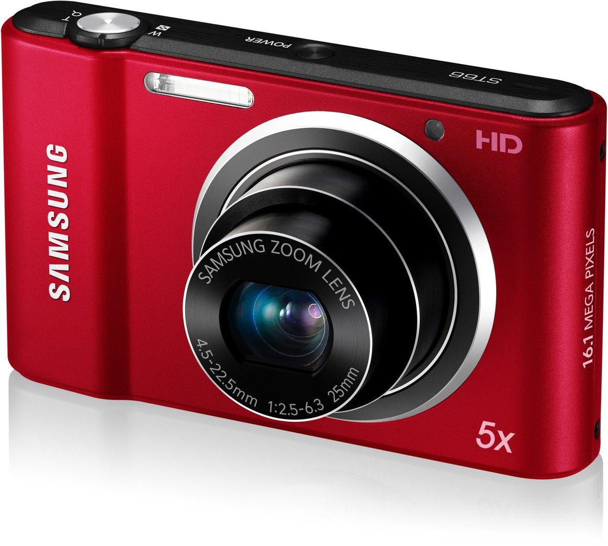 Amazon.com : Samsung ST66 16 MP Compact Digital Camera - Red (EC ...