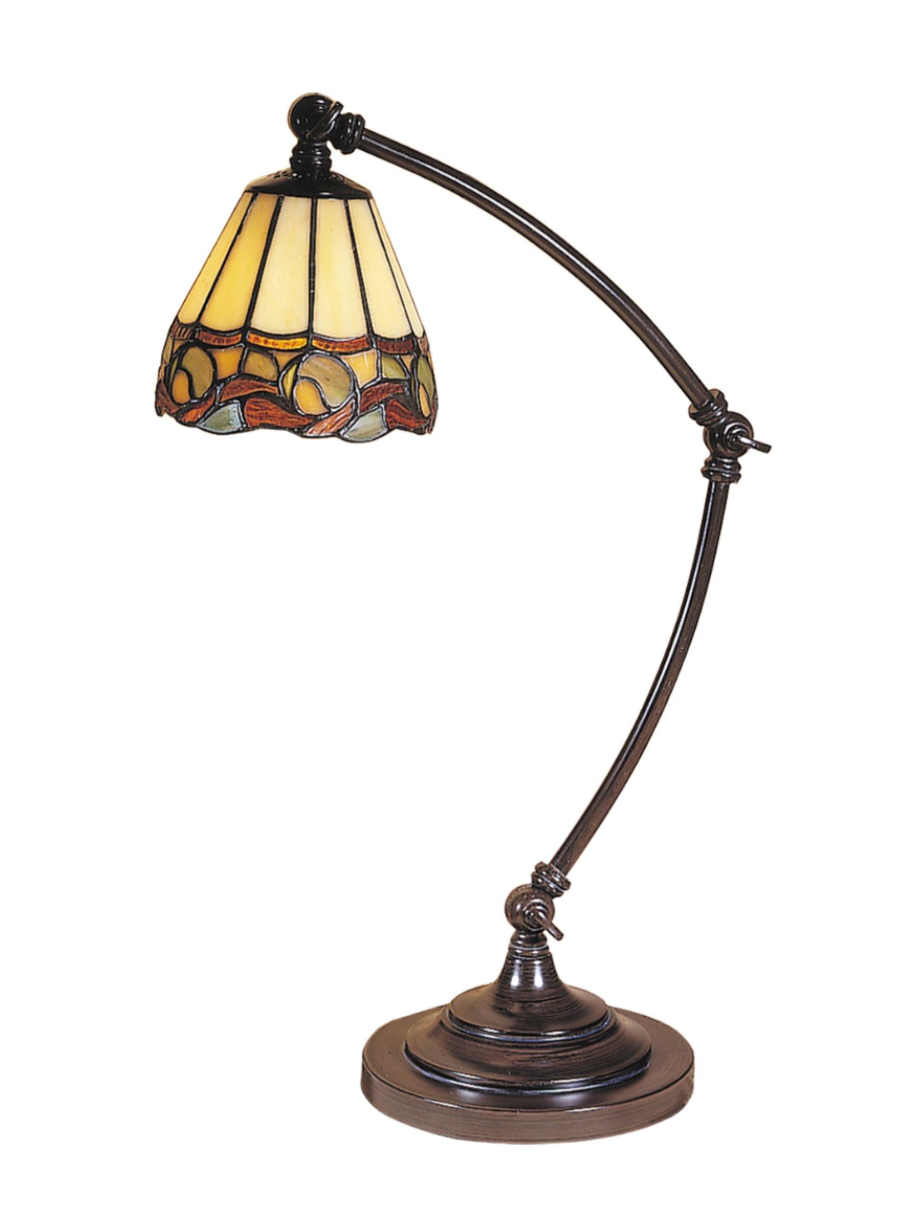 Dale Tiffany TA100700 Ainsley Desk Lamp 5.5'' x 5.5'' x 21'' MICA Bronze