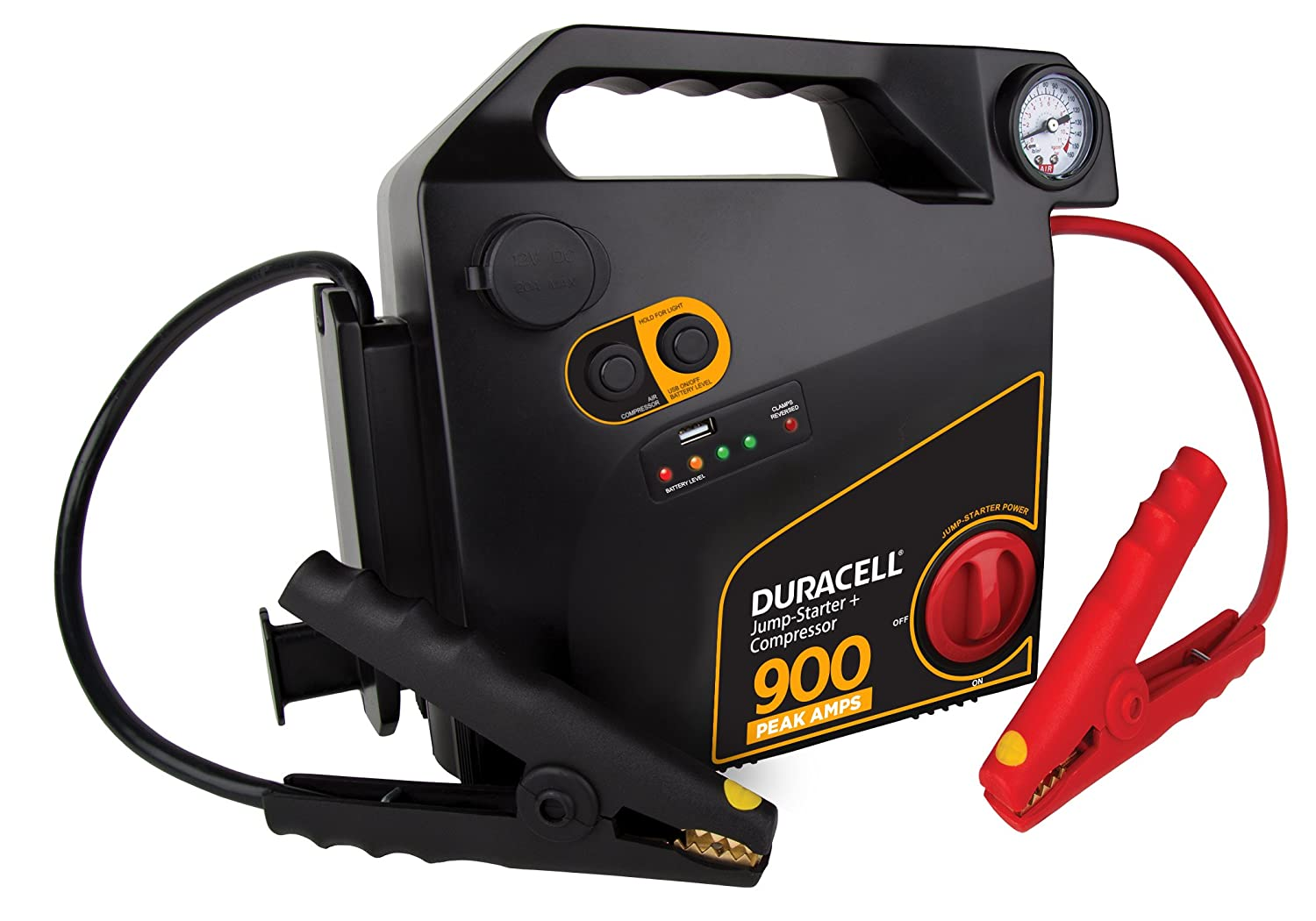 Duracell 900 Peak Amps Portable Emergency Jumpstarter with Compressor