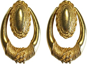 """Cleopatra"" Jewelry Collection, Bold, Heavy Large Clip-on Earrings, Earrings Sets"
