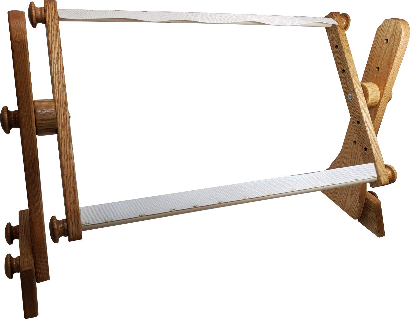 Tomorrow's Treasures Oak Lap or Tabletop Stand and Frame, Webbing Version by Tomorrow's Treasures