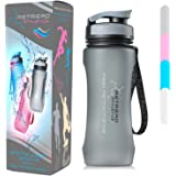 [NEW] RETREAD ATHLETICS Tritan BPA Free Sports Water Bottle 600ml With FREE Filter / Ergonomic Curved Design For Maximum Grip / Clear Frosted Aesthetic / Leak Proof Lid / Travel / Outdoor / Hiking / Camping / Gym