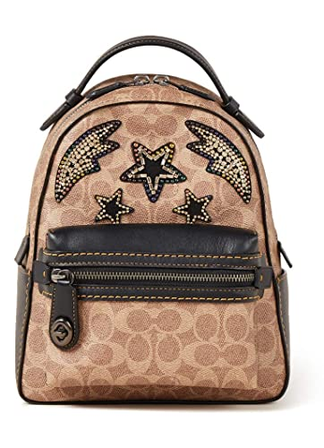 ba03d2e09c2 Coach CAMPUS BACKPACK 23 IN SIGNATURE CANVAS WITH RAINBOW CRYSTAL  EMBELLISHMENT(31632)