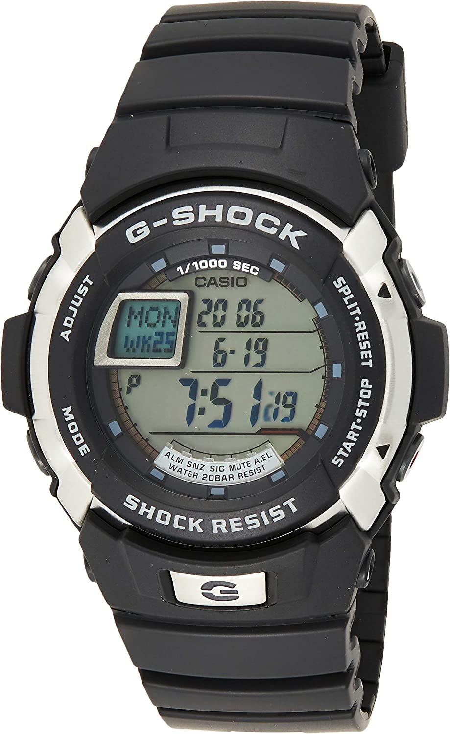 Casio G-SHOCK Reloj Digital, 20 BAR, Negro, para Hombre, G-7700-1ER