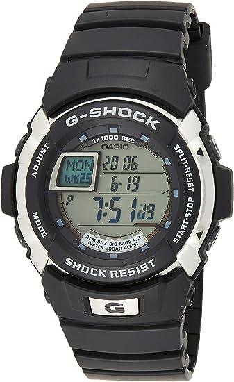 Casio G shock Auto Illuminator Black Alarm Digital G 7700