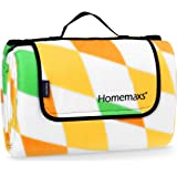 Homemaxs Extra Large Picnic Blanket 200 x 200 cm Waterproof and Portable Foldable Outdoor Blanket for Outdoor Beach Hiking Grass Travel Camping