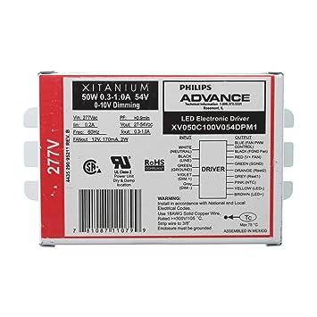 advance xv050c100v054dpm1 dimming led driver xitanium 0 10v 27 54 rh amazon com