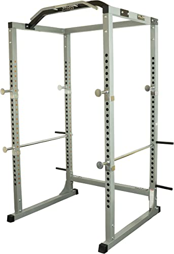 Valor Fitness BD-11 Heavy Duty Power Rack Squat Rack w Chrome Pull Up Bar and Power Cage Bundle Optins for a Complete Weightlifting Home Gym BD-11 Power Rack
