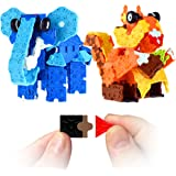 FLATBLOCKS Elephant and Squirrel and More. New STEM Building Toy With a System that Uses Flat Blocks to Make a 3D Project. Has 564 Pieces, 4+ Construction Education Toy.