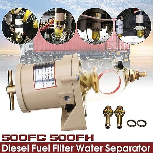 Starter Kraftstofffilterabscheider Wasserölfilter Für Racor 500fh 500fg Diesel Küche Haushalt