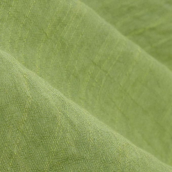 Reooly - Camiseta Grande de Lino y algodón, para Mujer Verde XXX ...