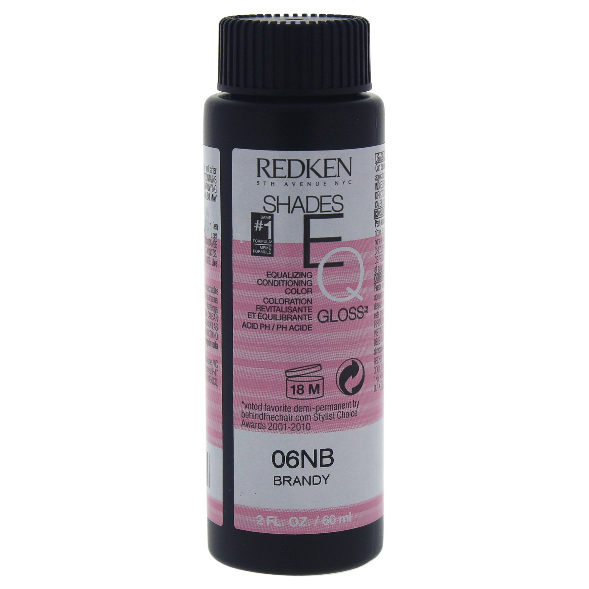 Redken Shades EQ Color Gloss Hair Color for Unisex, 06NB Brandy, 2 Ounce