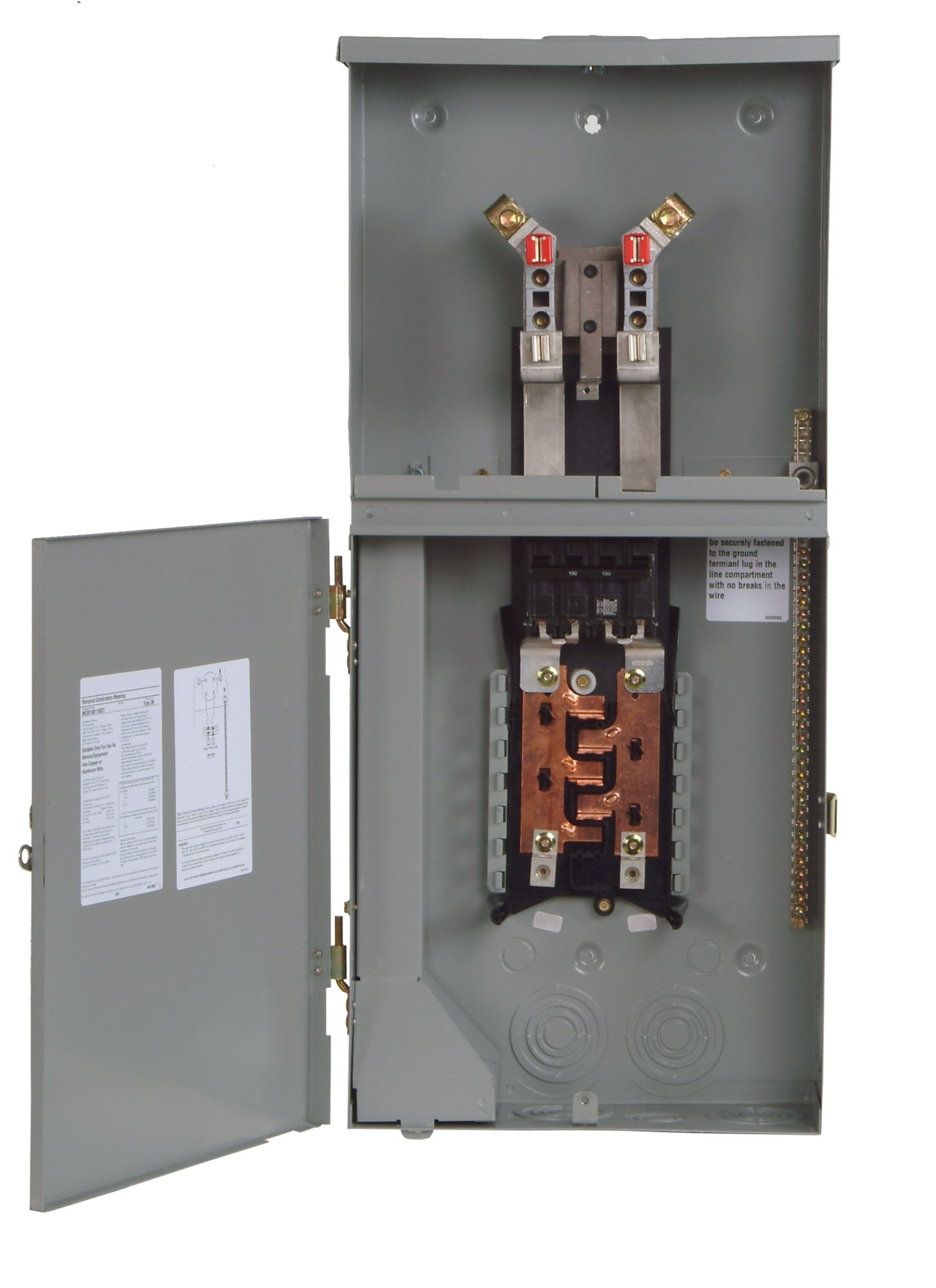 Siemens MC0816B1200RCT 8 Space, 16 Circuit, 200-Amp Main Breaker Meter Combination With A Ringless Cover