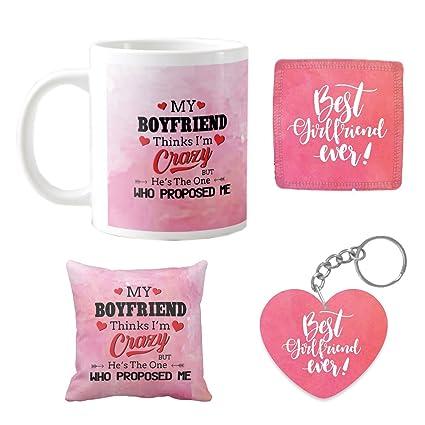 YaYa Cafe Birthday Gifts For Girlfriend My Boyfriend Thinks I Am Crazy Mugs