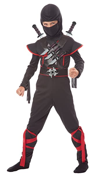 California Costumes Kids Stealth Ninja Costume with Weapons Belt Black/Red Large  sc 1 st  Amazon.com & Amazon.com: California Costumes Kids Stealth Ninja Costume with ...
