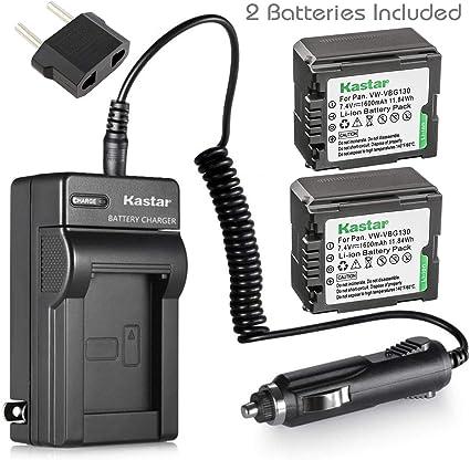 Battery Charger For Panasonic DMW-VBG070 DMW-VBG130 DMW-VBG260 HDC-TM10 HDC-TM15