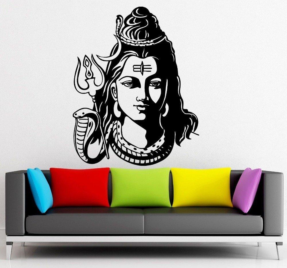 Asmi collections pvc wall sticker beautiful god shiva