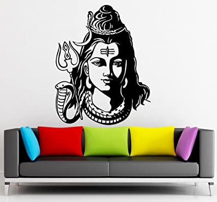 c6840c4ea Image Unavailable. Image not available for. Colour: Asmi Collections PVC  Wall Sticker Beautiful God Shiva
