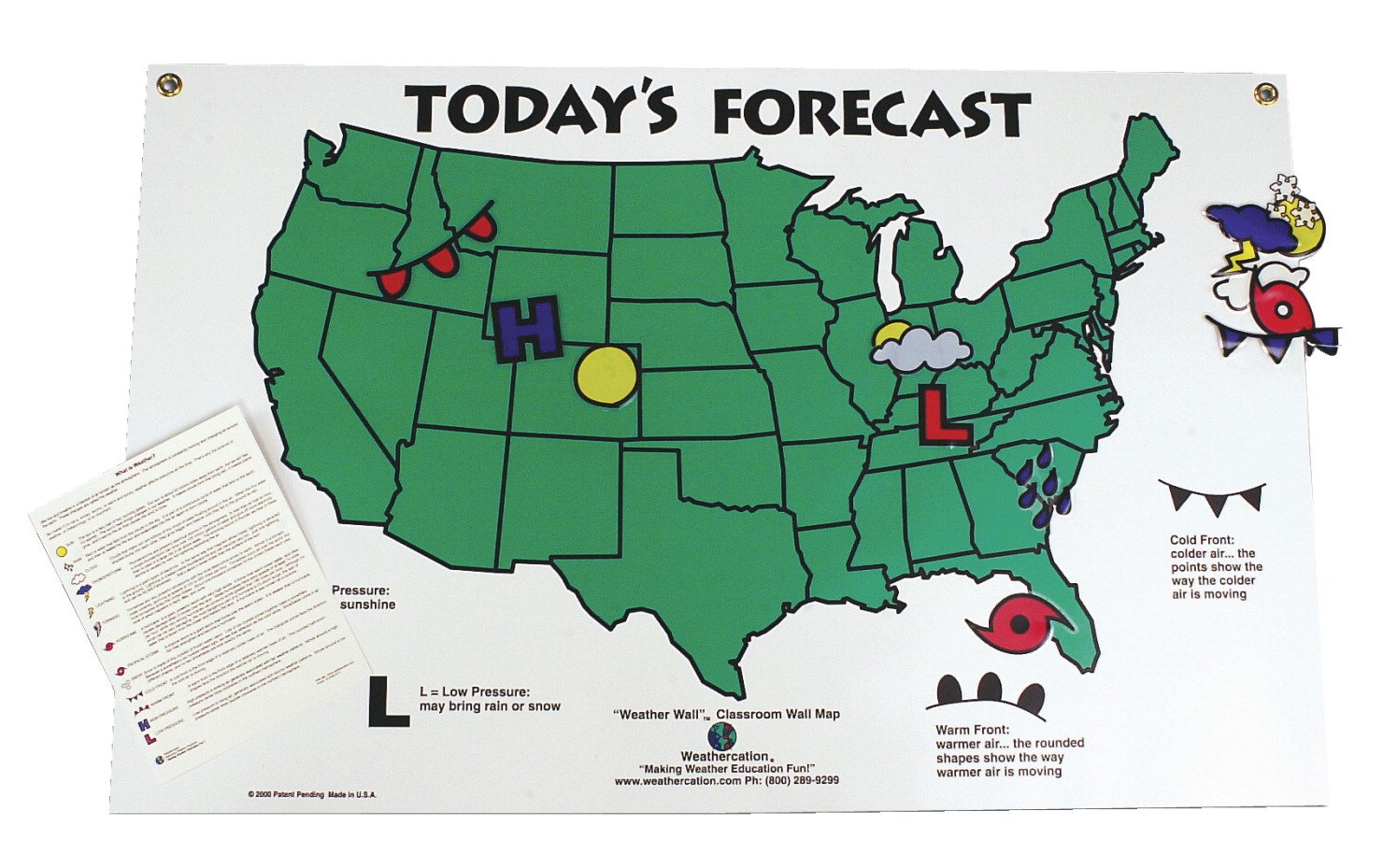 Making A Weather Map.Amazon Com Scott Resources Today S Forecast Weather Map And