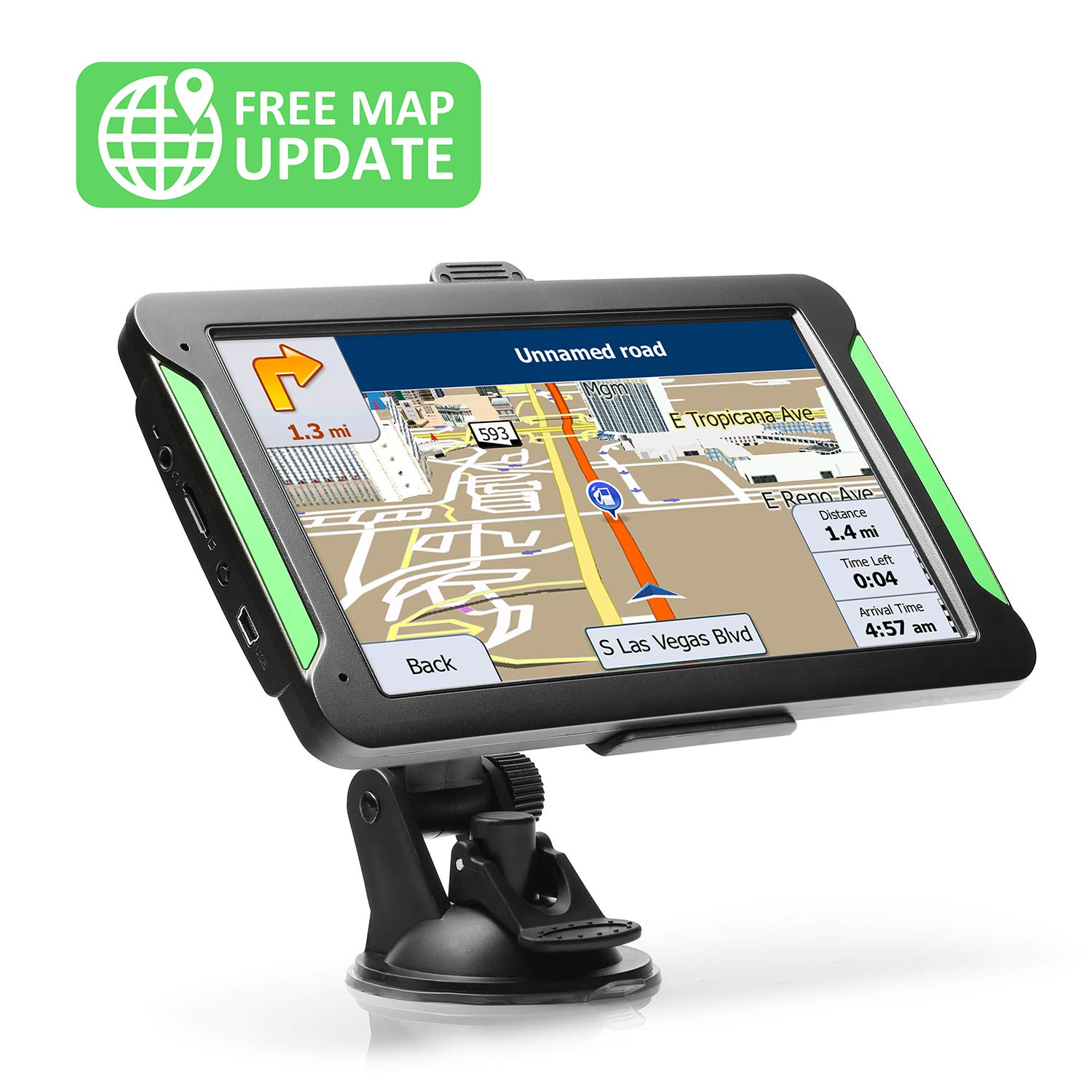 GPS Navigation for Car, LTTRBX 7'' Touch Screen 8GB Real Voice Spoken Turn-by-Turn Direction Reminding Navigation System for Cars, Vehicle GPS Satellite Navigator with Free Lifetime Map Update by Lttrbx