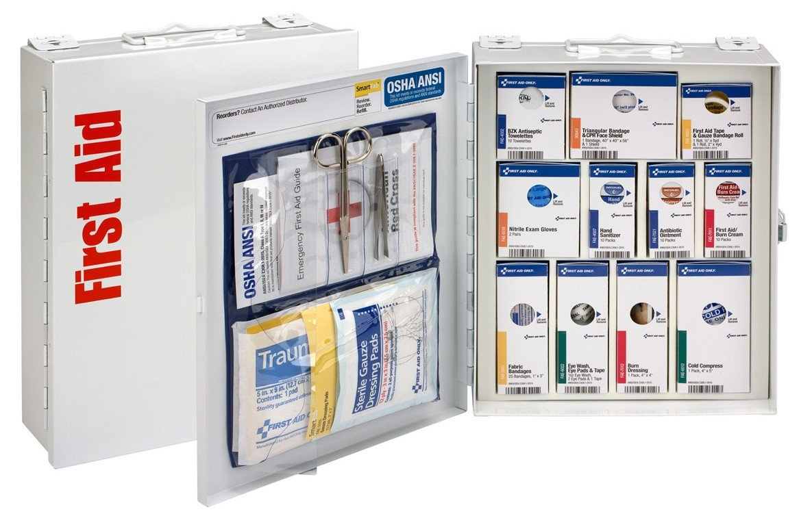Pac-Kit by First Aid Only 90578 Medium Metal SmartCompliance First Aid Cabinet without Medications