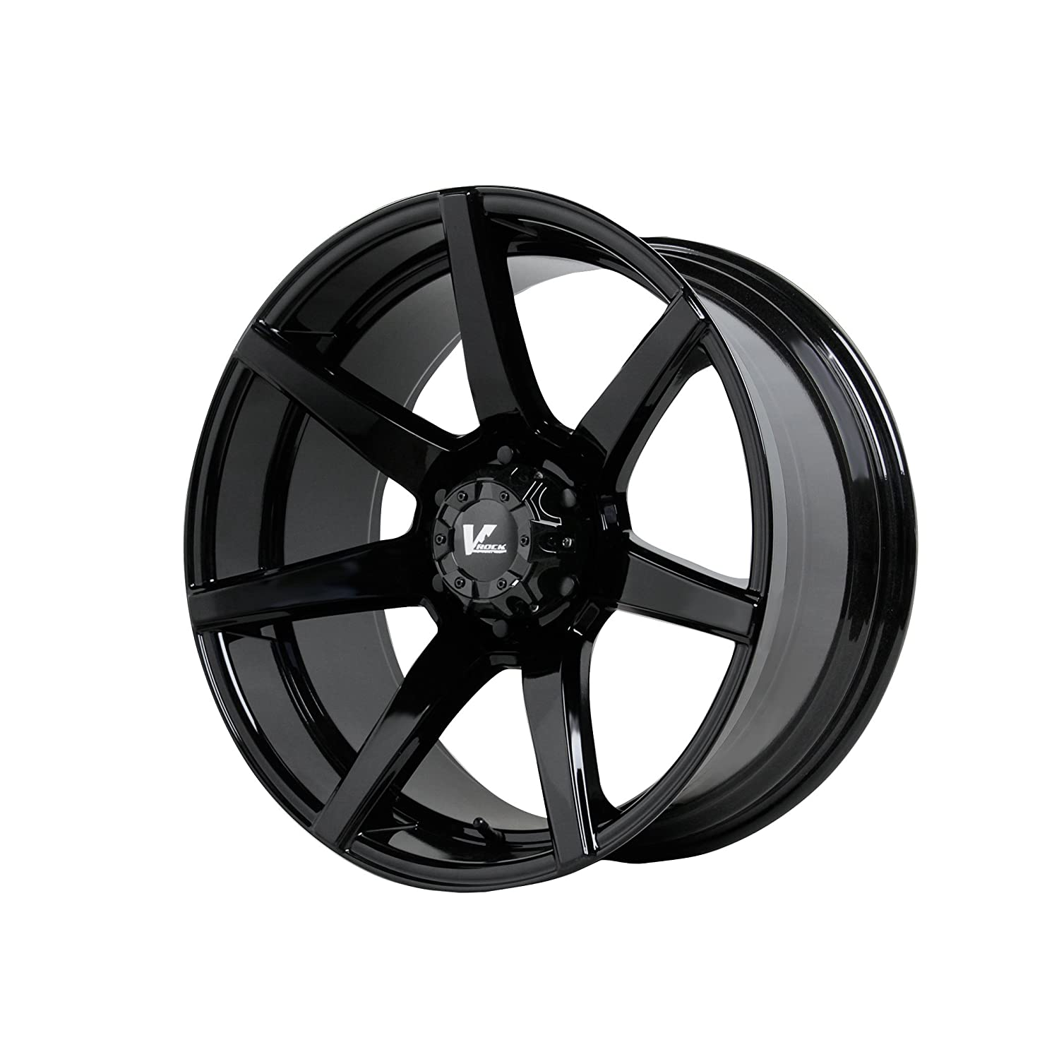 "Amazon V Rock VR8 Extractor Gloss Black Wheel 17x9 5"" 6x5 5"