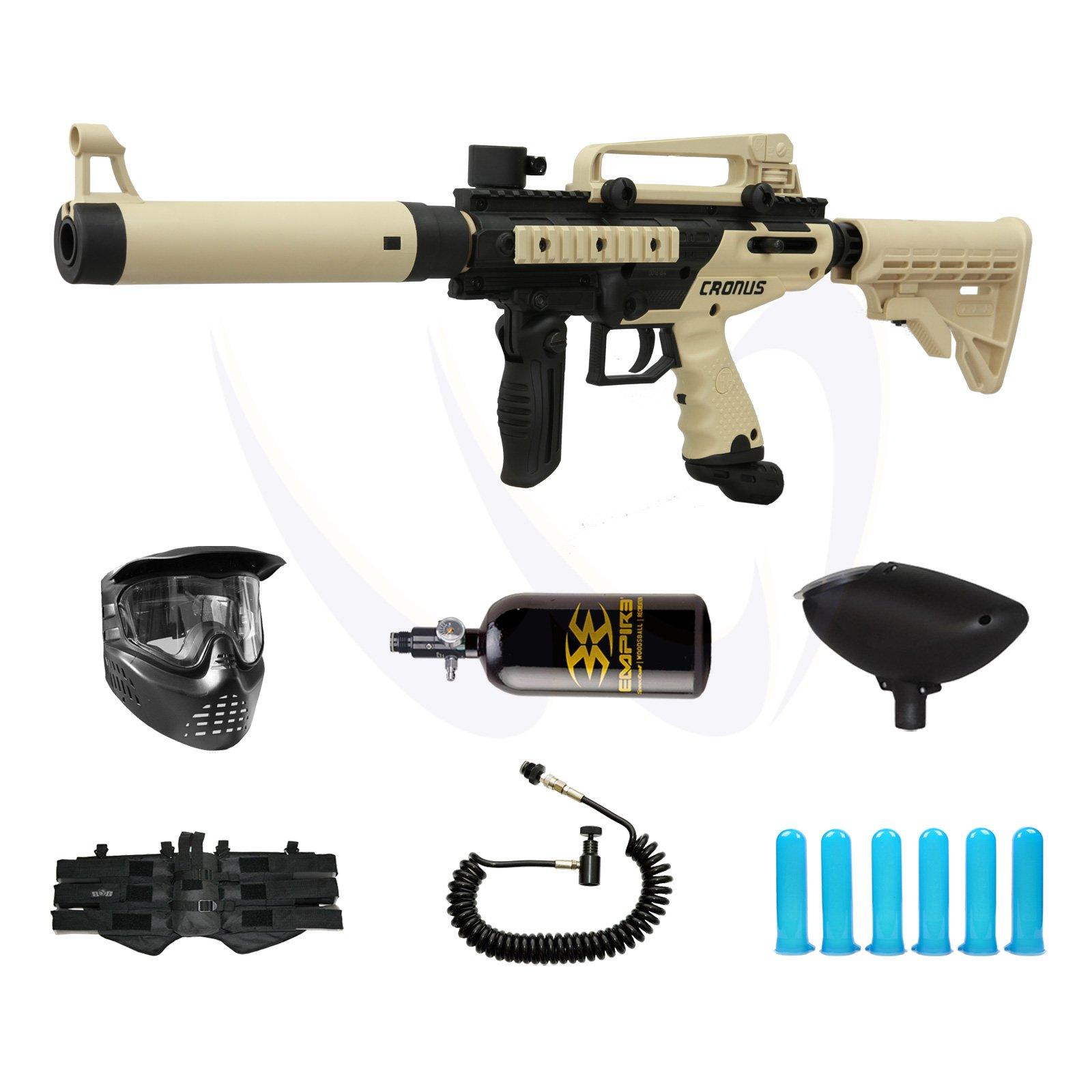 Tippmann Cronus Tactical - Tan - M-F Paintball Gun Power N2 Pack